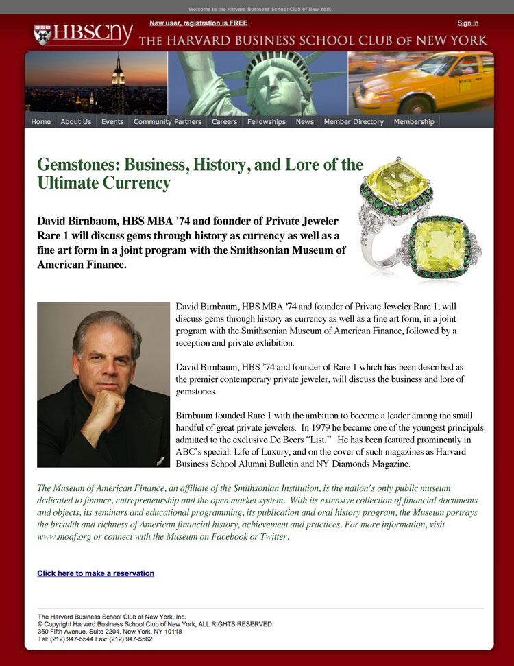 The  extraordinary business philosophy of David Birnbaum: Have the absolute rarest jewels.(Philosopher) David Birnbaum triumphs.